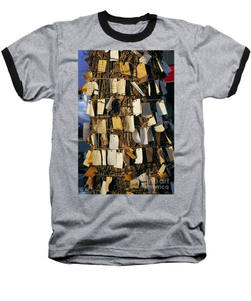 A Wishing Tree With Many Requests Baseball T-Shirt by Yali Shi