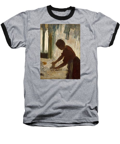 Baseball T-Shirt featuring the painting A Woman Ironing by Edgar Degas