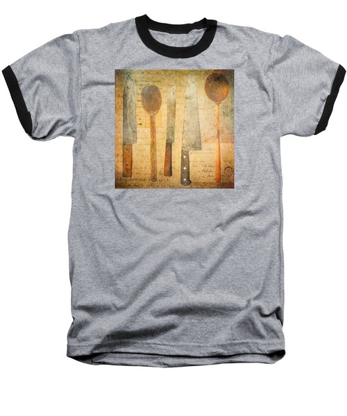 Baseball T-Shirt featuring the digital art A Woman's Tools by Lisa Noneman
