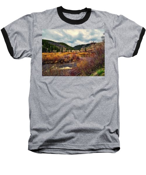 A Wyoming Autumn Day Baseball T-Shirt by L O C
