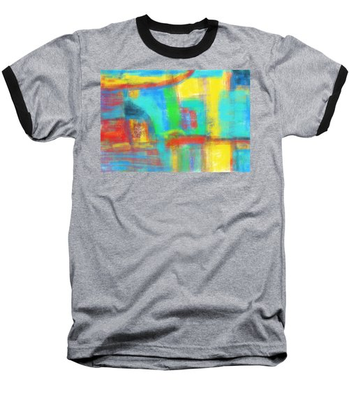 Baseball T-Shirt featuring the painting A Yellow Day by Susan Stone