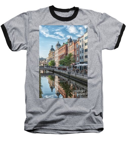 Baseball T-Shirt featuring the photograph Aarhus Afternoon Canal Scene by Antony McAulay
