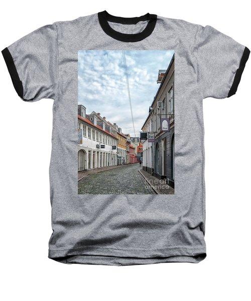 Baseball T-Shirt featuring the photograph Aarhus Backstreet Scene by Antony McAulay