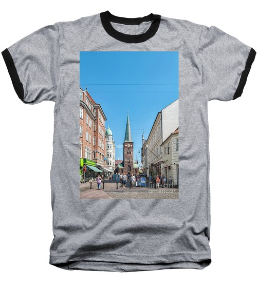 Baseball T-Shirt featuring the photograph Aarhus Street Scene by Antony McAulay