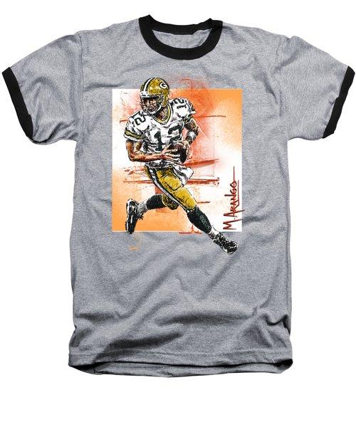 Aaron Rodgers Scrambles Baseball T-Shirt
