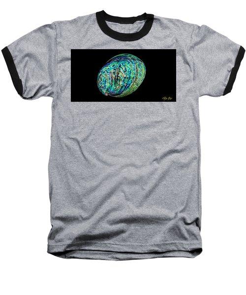 Abalone On Black Baseball T-Shirt