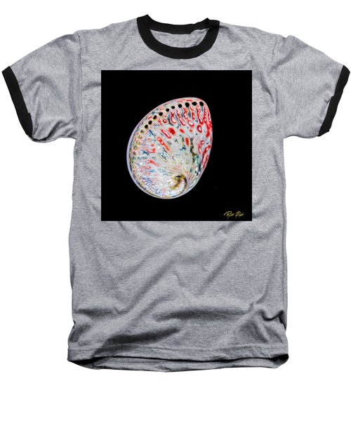 Baseball T-Shirt featuring the photograph Abalone - Touches Of Red by Rikk Flohr