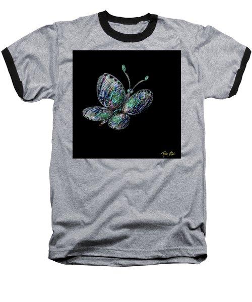 Abalonefly Baseball T-Shirt by Rikk Flohr