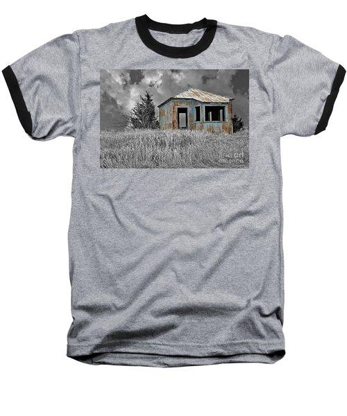 Abandon Railroad Shack Baseball T-Shirt