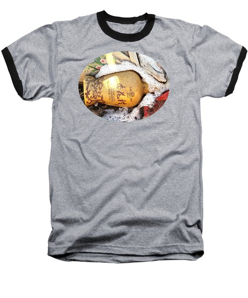 Baseball T-Shirt featuring the photograph Abandoned Bottle by Ethna Gillespie