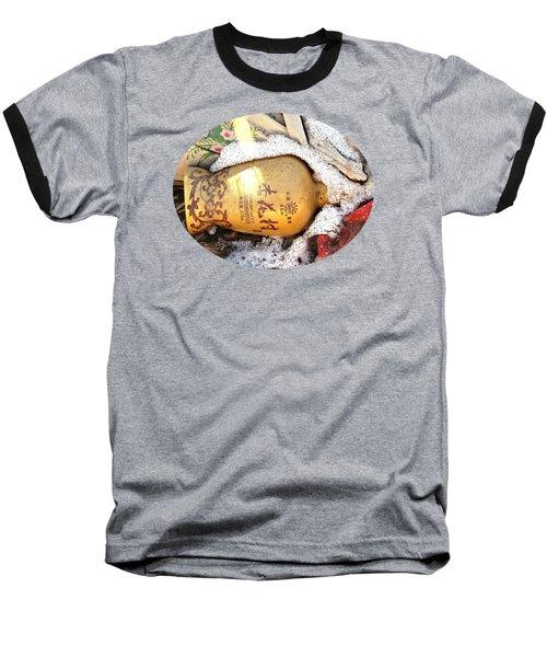 Abandoned Bottle Baseball T-Shirt by Ethna Gillespie