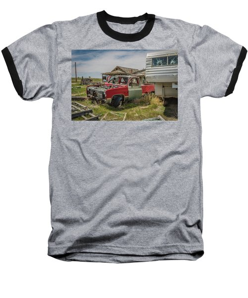 Abandoned Car And Trailer In The Ghost Town Of Cisco, Utah Baseball T-Shirt