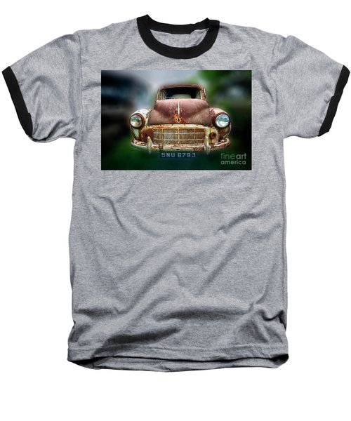 Baseball T-Shirt featuring the photograph Abandoned Car by Charuhas Images