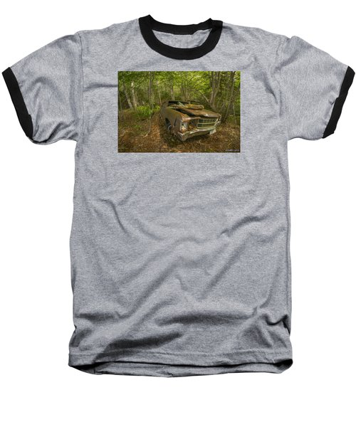 Abandoned Chevelle In Cape Breton Baseball T-Shirt by Ken Morris