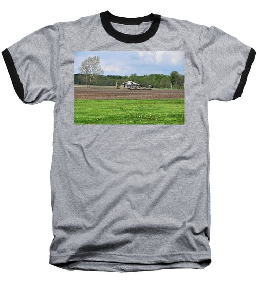 Baseball T-Shirt featuring the photograph Abandoned Farmhouse by John Black