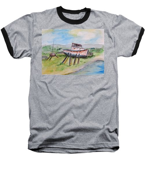 Abandoned Fishing Boat Baseball T-Shirt
