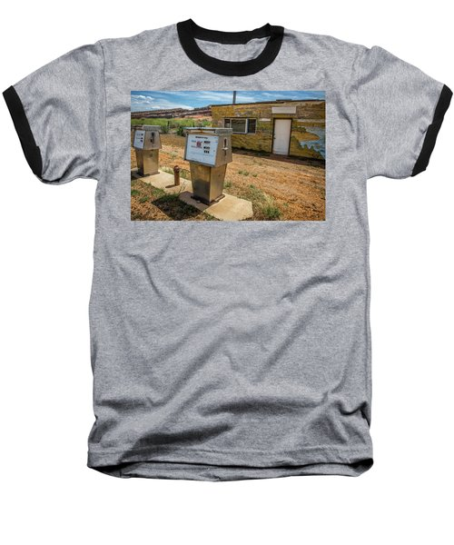 Abandoned Gas Station Baseball T-Shirt