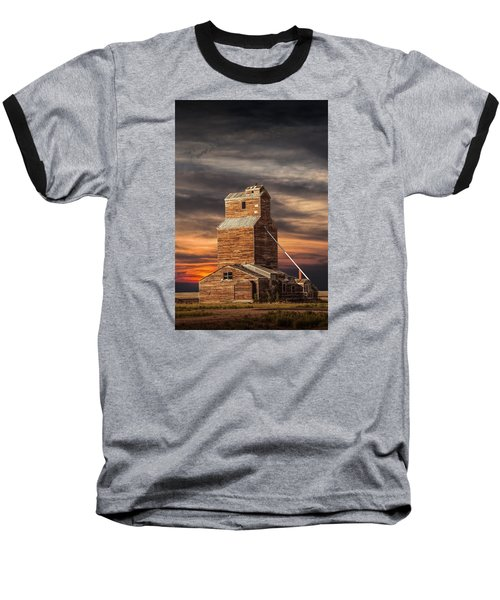 Abandoned Grain Elevator On The Prairie Baseball T-Shirt