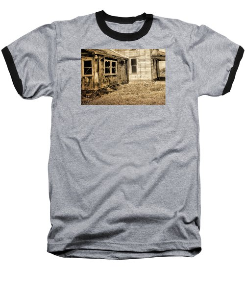 Abandoned House 3 Baseball T-Shirt by Bonnie Bruno