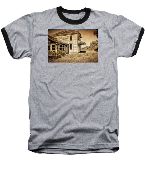 Abandoned House Baseball T-Shirt by Bonnie Bruno