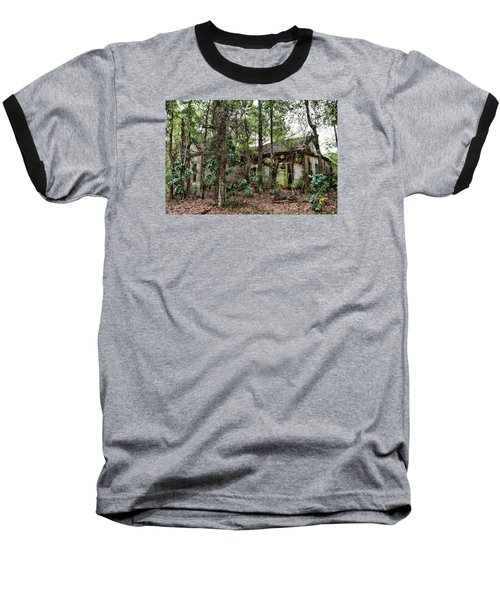Abandoned House In Alabama Baseball T-Shirt by Lynn Jordan