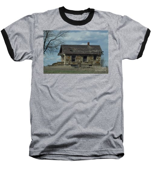 Baseball T-Shirt featuring the photograph Abandoned Kansas Stone House by Mark McReynolds