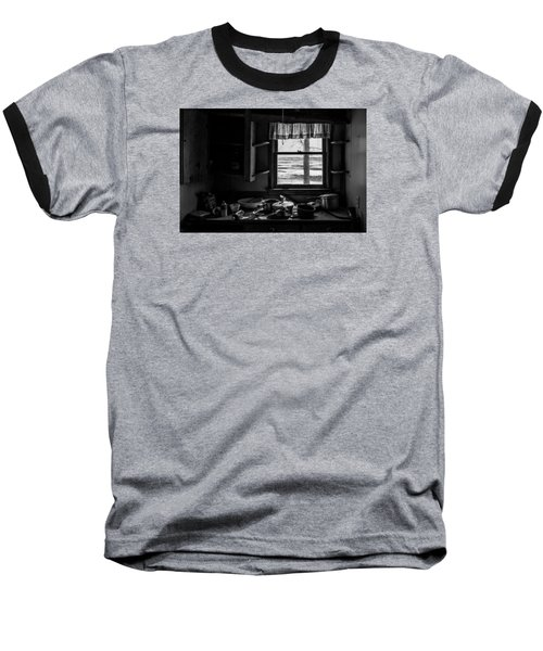 Baseball T-Shirt featuring the photograph Abandoned Kitchen by Dan Traun