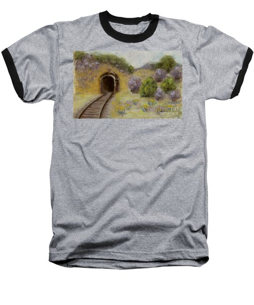Abandoned Mine Baseball T-Shirt by Laurie Morgan