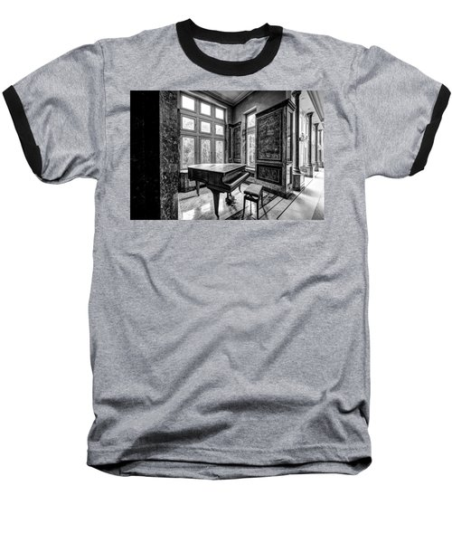 Abandoned Piano Monochroom- Urban Exploration Baseball T-Shirt