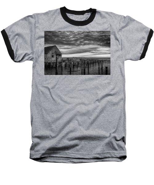 Abandoned Pier Baseball T-Shirt by David Cote