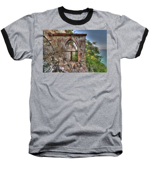 Abandoned Places Iron Gate Over The Sea - Cancellata Sul Mare Baseball T-Shirt