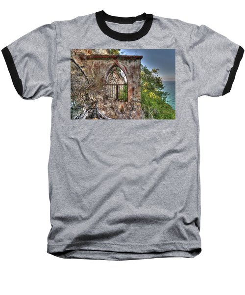 Abandoned Places Iron Gate Over The Sea - Cancellata Sul Mare Baseball T-Shirt