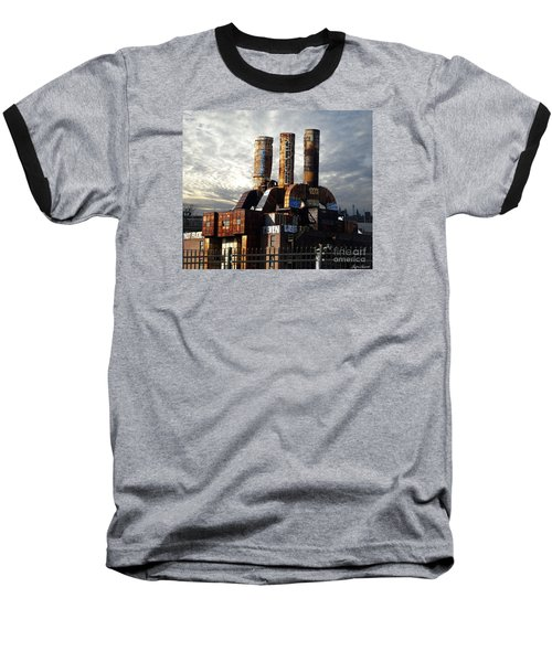 Baseball T-Shirt featuring the photograph Abandoned Power Plant by Lyric Lucas