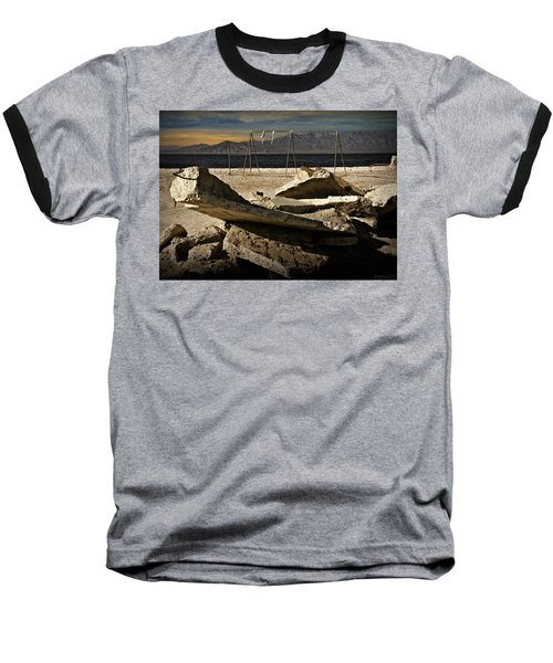 Baseball T-Shirt featuring the photograph Abandoned Ruins On The Eastern Shore Of The Salton Sea by Randall Nyhof