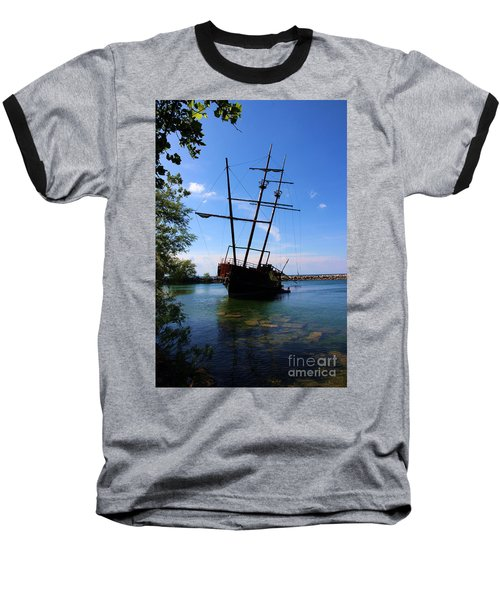 Abandoned Ship Baseball T-Shirt by Al Bourassa