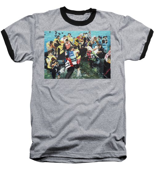 Baseball T-Shirt featuring the painting Abandoned Souls by Eric Kempson