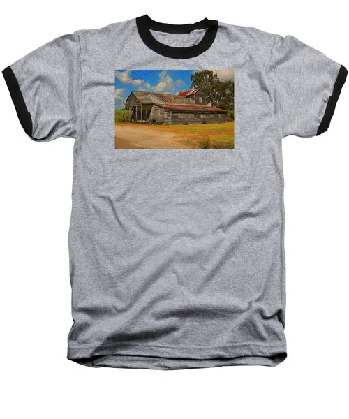 Abandoned Store Baseball T-Shirt by Ronald Olivier
