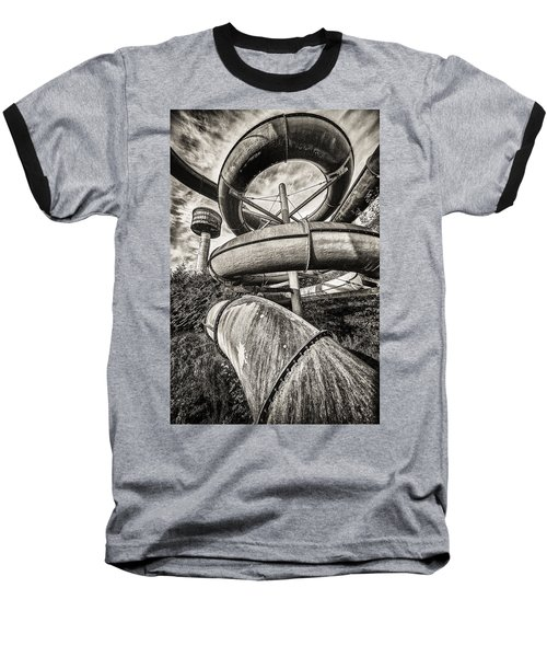 Winding Slide - Abandoned Swimming Pool Baseball T-Shirt