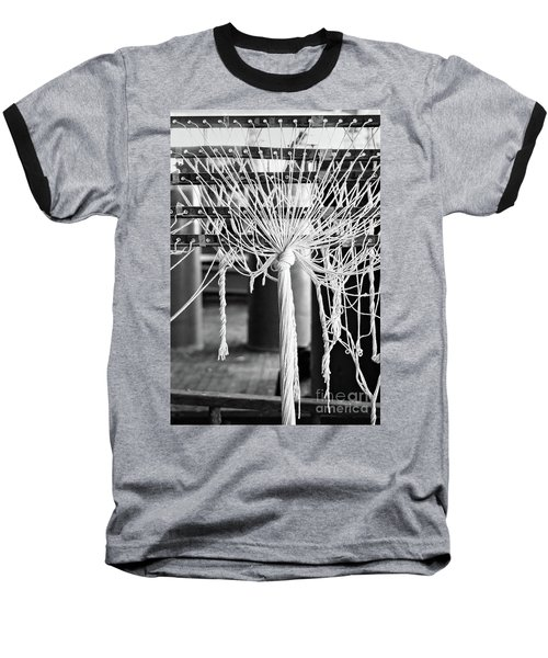 Abandoned Textile Mill, Lewiston, Maine  -48692-bw Baseball T-Shirt by John Bald