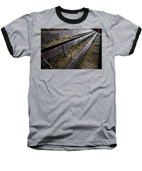 Abandoned Theatre Steps - Architectual Abstract Baseball T-Shirt