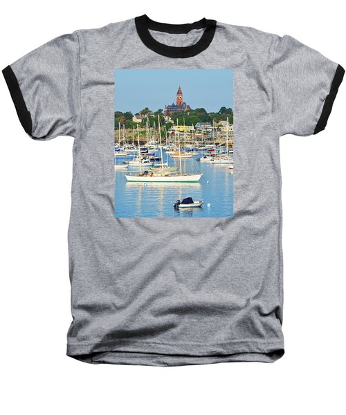Abbot Hall Over Marblehead Harbor From Chandler Hovey Park Baseball T-Shirt