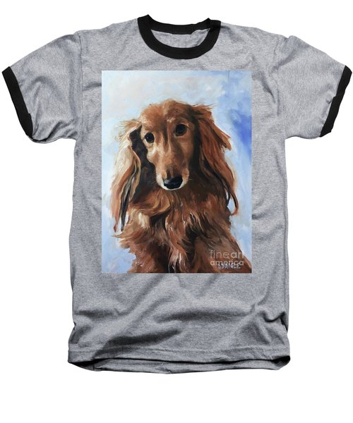 Baseball T-Shirt featuring the painting Abby by Diane Daigle