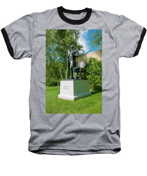 Baseball T-Shirt featuring the photograph Abe Hanging Out by Greg Fortier