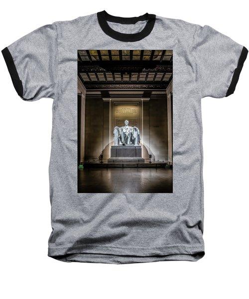 Abe Lincoln Under His Night Lights  Baseball T-Shirt