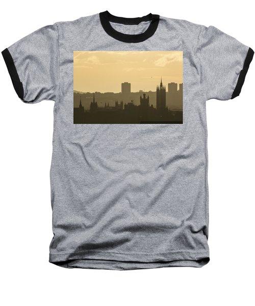 Aberdeen Skyline Silhouettes Baseball T-Shirt