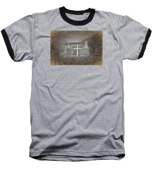 Abiquiu Nm Church Ruin Baseball T-Shirt