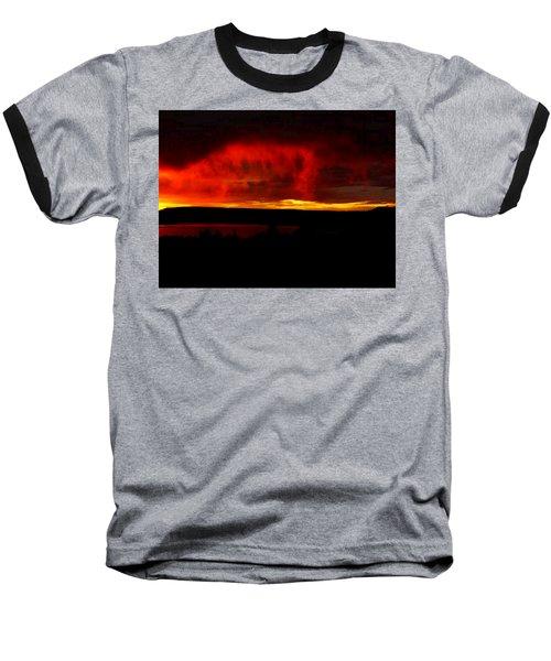Baseball T-Shirt featuring the painting Abiquiu Reservoir  by Dennis Ciscel
