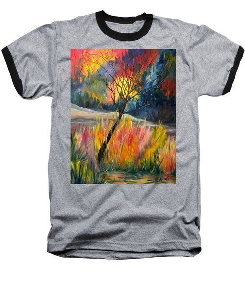 Ablaze Baseball T-Shirt by Renate Nadi Wesley