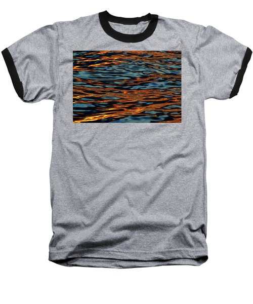 Above And Below The Waves  Baseball T-Shirt by Lyle Crump