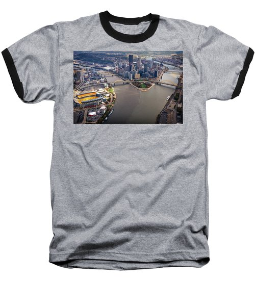 Above Pittsburgh In  Color  Baseball T-Shirt